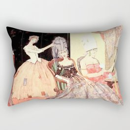 """""""She Might Have Dressed Their Heads Awry"""" by Harry Clarke 1922 Rectangular Pillow"""