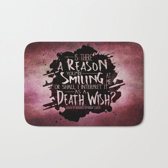 Death Wish quote Design Bath Mat