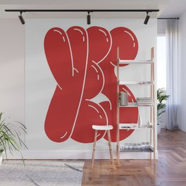 Yes - funny retro positive typography phrase Wall Mural