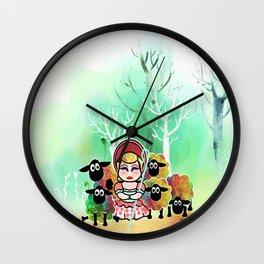Bo Peep and her sheep momiji Wall Clock