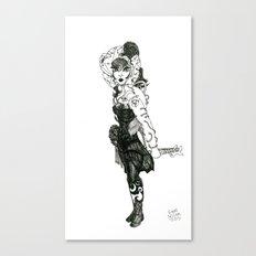 Zodiac [Pen Drawn Figure Illustration] Canvas Print
