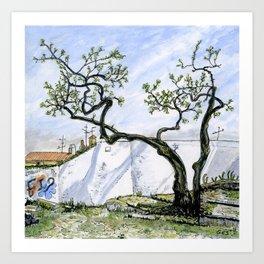 Alfama Tree, Lisbon Art Print