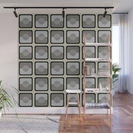 Horizons Geometric Pattern - Black Grey Beige Wall Mural