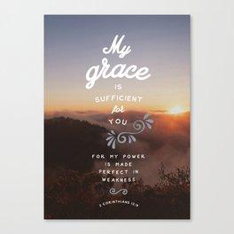2 Corinthians 12:9 Canvas Print
