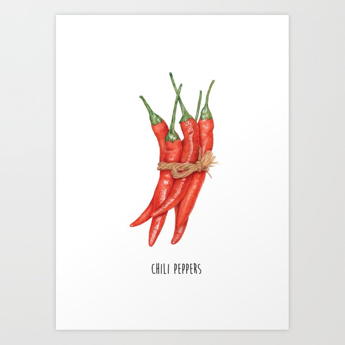 Kitchen Poster Red Pepper Decor
