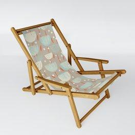 Botanical Block Print M+M Latte by Friztin Sling Chair