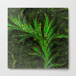 Feathery Fronds Abstracted Metal Print