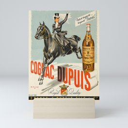 Vintage Cognac Brandy Dupuis Alcoholic Beverage Advertising Poster Mini Art Print