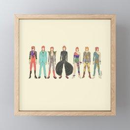 7 Red Heroes Heads Framed Mini Art Print