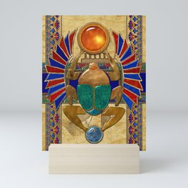 Sarcophagus 3d Egyptian Folk Art Mini Art Print