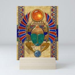 Sarcophagus 3d Egyptian Folk Art Mini Art Print