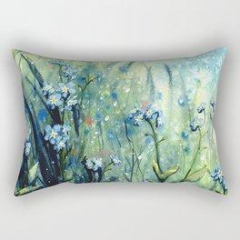 Forget me not flowers Rectangular Pillow