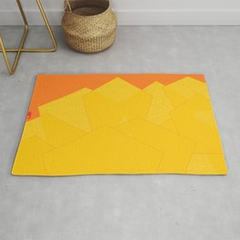 Colorful Yellow Abstract Shapes Rug