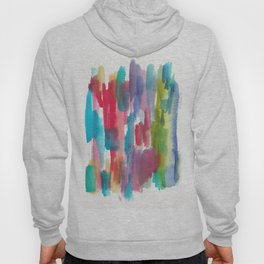 180812 Abstract Watercolour Expressionism 9   Colorful Abstract   Modern Watercolor Art Hoody