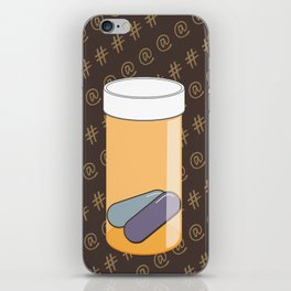 Social Addiction iPhone Skin