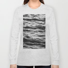 Marble Waters Black and White Long Sleeve T-shirt