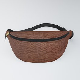 Burnt Orange Leather Fanny Pack