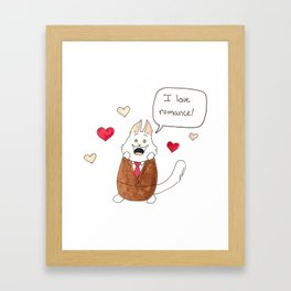 Lupin loves romance! Framed Art Print