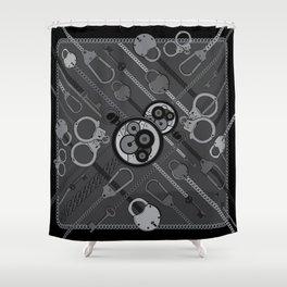Locks & Chains Scarf Print Shower Curtain