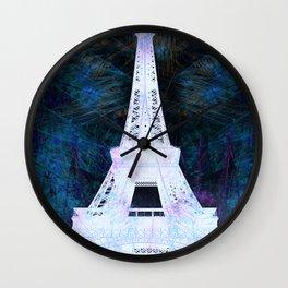 Paris Eiffel Tower Night Glow Wall Clock