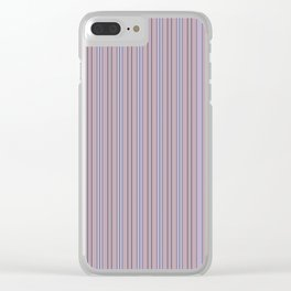 Lavender Stripes Clear iPhone Case