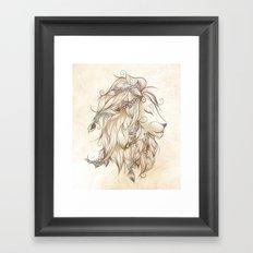 Poetic Lion Framed Art Print