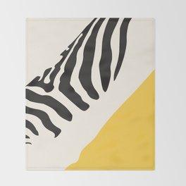 Zebra Abstract Throw Blanket