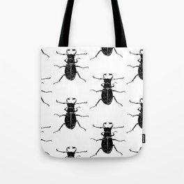 MINIMAL + MONOCHROME BEETLE PATTERN Tote Bag