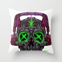 Cyberpunk Cybernetics Internet Digital Online Gift Throw Pillow