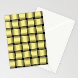 Large Khaki Yellow Weave Stationery Cards