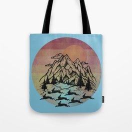Bunny Herd At Sunset Tote Bag