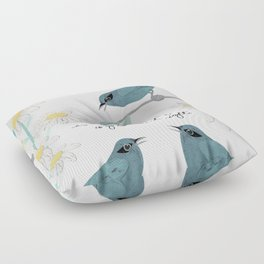Three Little Birds Floor Pillow
