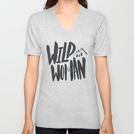 Wild Woman x Blue Unisex V-Neck