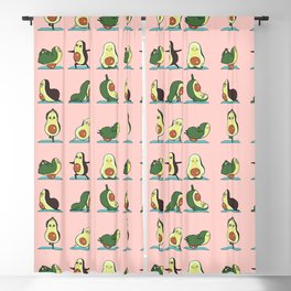Avocado Yoga in Pink Blackout Curtain