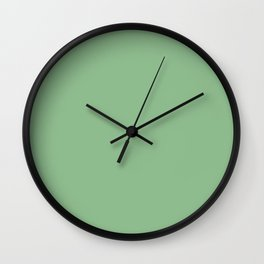 Dark Sea Green - solid color Wall Clock