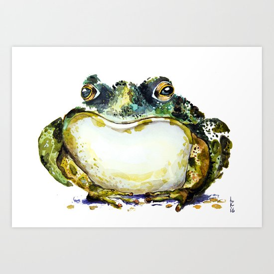 the toad Art Print