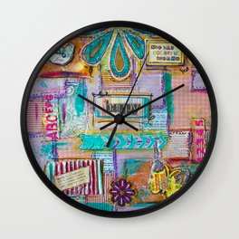 Colorful quilt Wall Clock