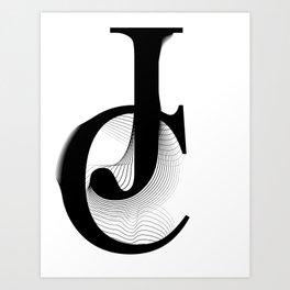oboTypo_JC Art Print