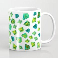 Green beautiful hand drawn gems. Mug