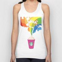 starbucks Tank Tops featuring Starbucks Pop Art by Tiffany Taimoorazy