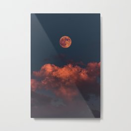 full moon and clouds Metal Print