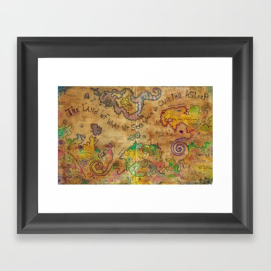 The Land of What We See When We Can't Fall Asleep Framed Art Print