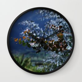 Decorative Eucalyptus Wall Clock