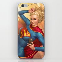 supergirl iPhone & iPod Skins featuring Supergirl by kody