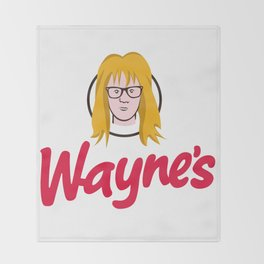 WAYNE'S SINGLE #2 Throw Blanket