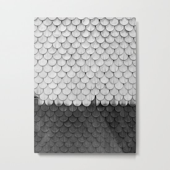 SHELTER / white and black Metal Print