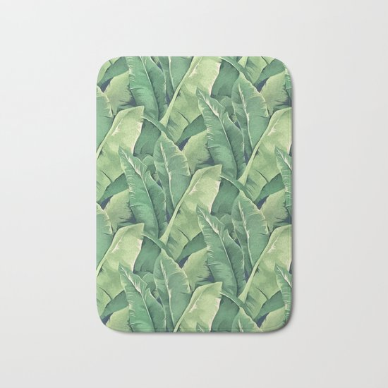 Banana leaves IV Bath Mat