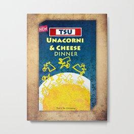 Unacorni and Cheese Metal Print