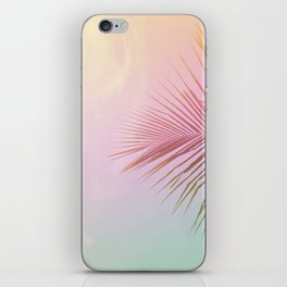 Pink Palm Leaf Poster iPhone Skin