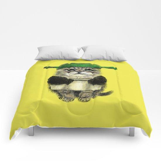 Shreky Cat Comforters